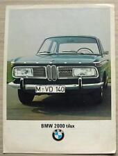 BMW 2000 TILUX Car Sales Brochure 1967 #12250 e 10 1/67