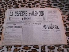 Journal - La Dépêche d'Alençon et de l'Orne n° 21, 17/03/1949