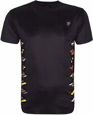 Men's Rasta T-shirt Ripped Stylish On Sides Rasta Colored Short Sleeves