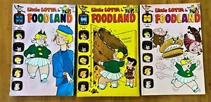 LITTLE LOTTA IN FOODLAND  THREE (3)  SILVER/BRONZE AGE HARVEY COMICS