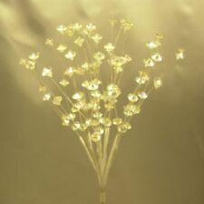 AbigailRose 12 Clear Crystal Bead Sprays 3 Strands per Spray Flower or Cake Accessories