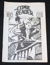 1974 August The Comic Reader Fanzine #109 Incredible Hulk #181 Issue FVF