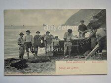 RIMINI saluti scene pescherecce barca pescatori animata fisch vecchia cartolina
