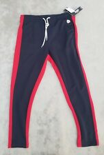 Southpole Men's Athletic Skinny Track Pants Slim fit navy red X-Large new sz XL