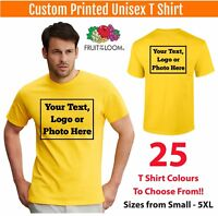 Custom Printed Personalised T-Shirt Unisex Tee Shirt Stag Hen Workwear Photos