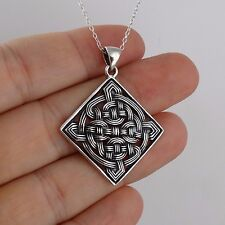 Celtic Knot Necklace - 925 Sterling Silver - Irish Pendant Love Loyalty Gift NEW