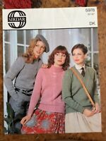 Womens knitting patterns.jumpers.size 32-42 inch bust.DK.Sirdar.