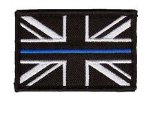 10 x Thin Blue Line Police - Union Jack Velcro backed patches (UK Badge insignia