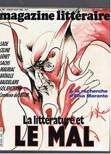 MAGAZINE LITTERAIRE N°209 1984 LA LITTERATURE ET LE MAL
