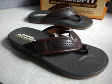 NWT, $50. Men's Skechers Relaxed Fit Pelem Emiro Flip Flop Sandals  #65093/CHOC