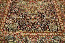 Cir 1930's ANTIQUE KORK WOOL_TREE OF LIFE PERSIAN KERMAN LAVAR_RAVAR RUG 6x9
