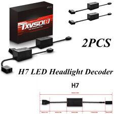 H7 LED Headlight Error Free Anti Flicker Resistor Canceller Decoder HID Lamp 2pc