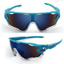 Sunglasses Blue Silver Mountain Bike Cycling Helmet Sun Glasses Biking Men Women