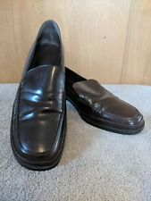 Mens Banana Republic 9 Shoes Loafer Slip On Brown Leather Dress Career Casual B3