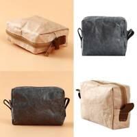 Travel Kraft Paper Zip Storage Bag Waterproof  Tearproof Organizer Pouch S