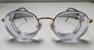 Big Round Womens Unisex Glasses high myopic thick lenses Myodisc strong myopia