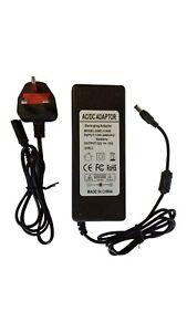Charger Power Supply 12V 10A Adapter LED Strip Light 5050 RGB UK Plug - UK STOCK