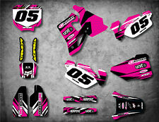 HONDA CR 80 1996 / 2002 Full Custom Graphic Kit DIGGER PINK decals stickers