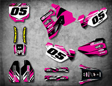 Custom Graphics Full Kit for HONDA CR 80 1996 / 2002 DIGGER PINK style stickers