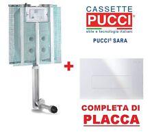 CASSETTA SCARICO AD INCASSO PUCCI SARA 1 pulsante scarico wc water PLACCA BIANCA
