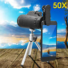 MOGE 50X HD Optical Phone Camera Monocular Night Vision Telescope + Clip+ Tripod