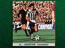 IL MONELLO CALCIO 73-74 n.14 JUVENTUS ANASTASI , Figurina Calciatori NEW