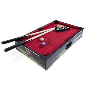 Arsenal FC 20 inch 8 Ball Pool Table Inc Balls Cues Chalk Rack Official Item