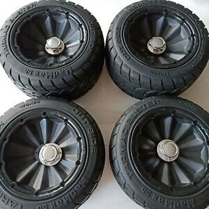Enclosed wheel tire on road + wheel nut for baja 5b HPI KM Rovan