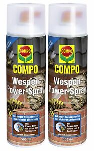 2x Compo Wespen Power-Spray Wespenspray 500 ml Aktionspaket Abwehr