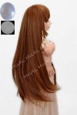 "6-7"" 1/6 BJD Charm Brown Long Dollfie Dullip Wig LUTS Doll SD DOD MSD Volks Hair"