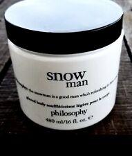 New Philosophy Snow Man Body Souffle Cream Giant Size 16 oz