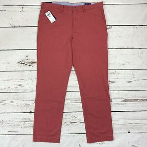 Polo Ralph Lauren Men's 36 x 32 Straight-Fit Chino Pants Nantucket Red