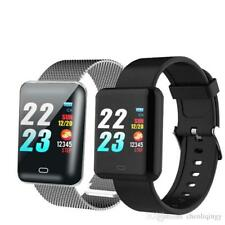 Bluetooth Smart Watch iPhone Android Waterproof Heart Rate Blood Pressure Fitbit