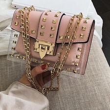 Purse Women Bag Shoulder Handback Lady Girl Stylish Fashion RIvets Outdoor Chain
