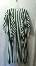 New Nwt LuLaRoe sz Medium Shirley Kimono Wrap Green White Striped Stripes