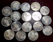 1966 CANADA $1 LOT OF 17! MS / UNC / WHITE-KM 64.1-FREE USA SHIP-.800 SILVER