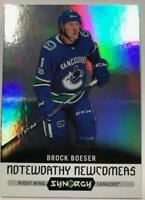 2017-18 Upper Deck Synergy Noteworthy Newcomers (Base or Green) Pick From List