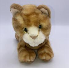 Russ Berrie Stuffed animal SWEET PEA Orange Tabby Cat Kitten Xmas Decoration