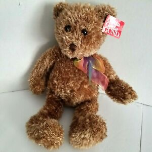 "Gund Teddy Bear Brown Cream 16"" Tall Bearessence Soft Plush Lovey Floppy Toy"