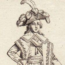 Gravure XVIIIe Costume Directoire Exécutif Directeur Révolution Française 1796
