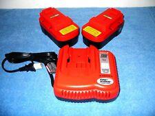 2 Black Decker HPB18-OPE 18 V olt  Batteries & Firestorm Fast Battery Charger