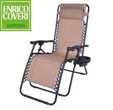 Divero Double Chaise longue 202x189 cm avec pare-soleil beige rouge marron
