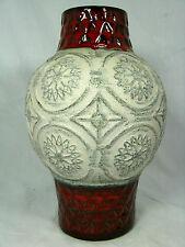 """Unusual shaped / formschöne 70´s WGP Bay Keramik """" relief """" pottery vase  62  25"""