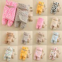 Newborn Baby Boys Girls Cute Cotton Receiving Sleeping Blanket Wrap Swaddle