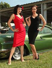 Diva wiggle dress-Black-Pinup, vintage,Rock Steady