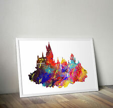 Hogwarts, Harry Potter, Poster Print, A6 size 4.1 x 5.8 in