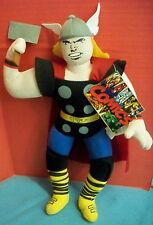 "Marvel Comics Character Super Hero Thor Soft Doll Plush Toy Hang Tag 2010 14"" T"