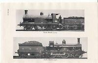 1930 Locomotora Tren Estampado Norte British 2 2 2 Inversa Gran Central &