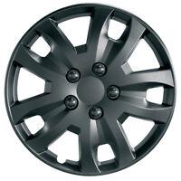 4 x Ring 13 Inch Universal Car Jet Wheel Trims Hub Caps Matt Black RWT1374