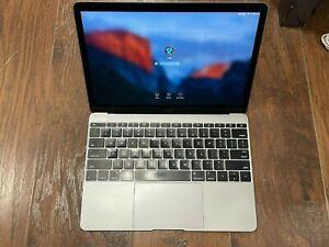 Apple MacBook 12'' 256 GB Space Gray Laptop, Early 2016, READ DESCRIPTION